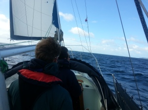 Nice blustery weather prior to rounding Start Point