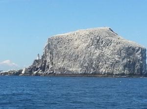 Bass Rock at the North Sea end of the Firth of Forth